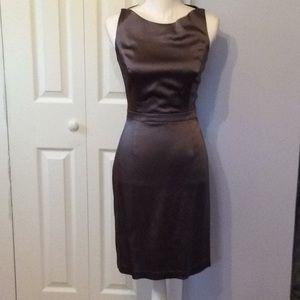 Mid length Satin Evening Dress